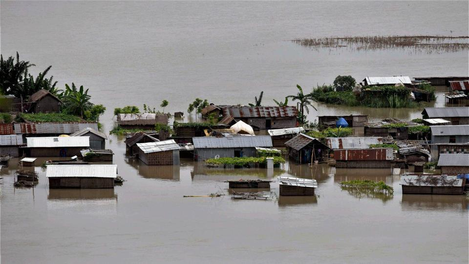 17 out of 33 districts are reeling under flood waters in Assam. Photo courtesy: Twitter