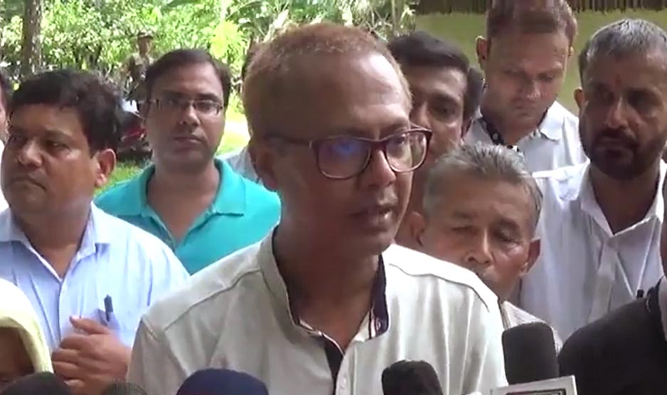 Shiladitya Dev speaking to media persons on August 12, 2019. Photo: TIME8