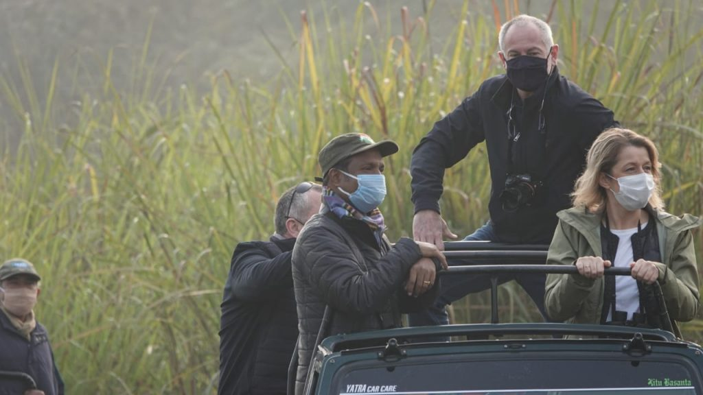French Minister Barbara Pompili explores Kaziranga National Park