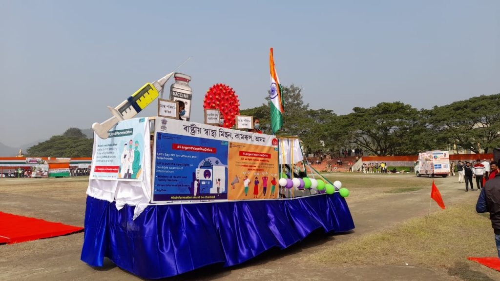 IN PICS: NHM Assam flaunts COVID19 Tableaus at R-Day celebrations