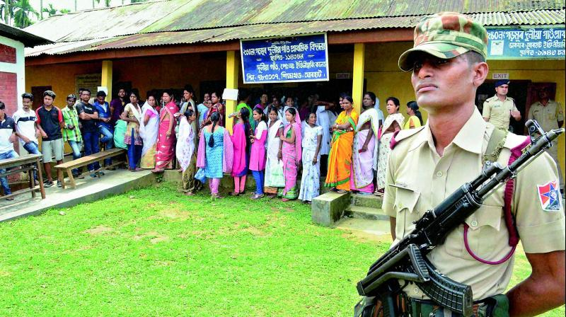 Assam Polls: 400 Companies of SFs Deployed for Phase II Polls Tomorrow