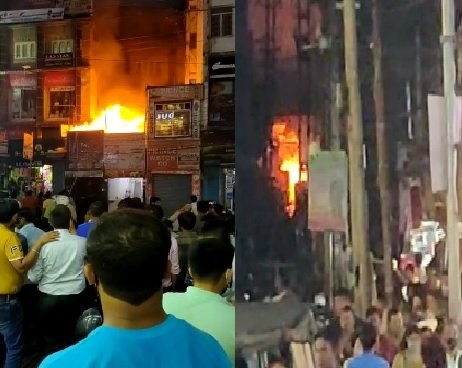 Massive fire engulfs restaurant in Guwahati's Fancy Bazaar