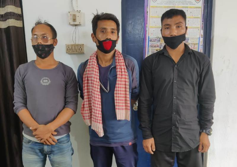 Three Rhino poachers held in Karbi Anglong, Arms seized