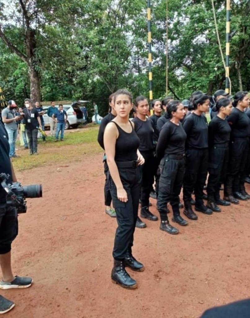 IN PHOTOS: Bollywood star Sara Ali Khan spotted in 'Veerangana' avatar in Guwahati
